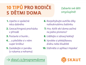 Skaut - 10 tipů na program na doma