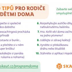 Skaut - 10 tipů na program na doma