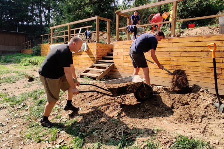 Stavební úpravy tábořiště